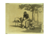 The Grandmother Prints by Honore		 Daumier