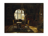 An Interior with a Lady Reading by a Window Giclee Print by Rudolf		 Konopa