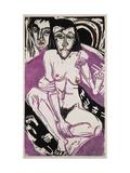 Melancholy Girl Prints by Ernst Ludwig Kirchner