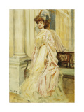 An Elegant Lady Giclee Print by William Albert Ablett