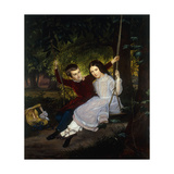 Alexander and Fanny on a Swing Giclee Print by Just Jean Christian		 Holm