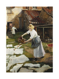 Washing Day Giclee Print by Noel		 Bataille
