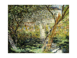 A Garden in Vetheuil Giclee Print by Claude Monet
