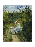 Jeanne in the Garden, Pontoise Reproduction procédé giclée par Camille Pissarro