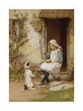 A Mute Appeal Giclée-tryk af Charles Edward Wilson