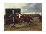 The Jockey Club Stakes, October 1st, 1903: 'Sceptre' beating 'Rocksand' by Four Lengths Giclee Print by Geoffrey Douglas Giles