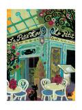 Le Petit Zinc Giclee Print by Natasha Wescoat