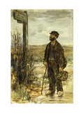 The Tramp Giclee Print by Jean-Francois Raffaelli