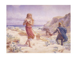 A Stranger in their Midst Giclee Print by A. Foord		 Hughes