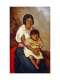 Mother and Child, Ecuador Posters by Jose Yepez		 Arteaga