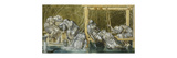Study for 'The Garden Court' Premium Giclee Print by Edward Burne-Jones