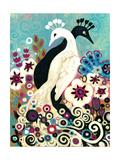Black and White Peacock Wydruk giclee autor Natasha Wescoat