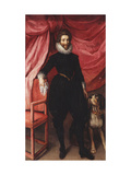Portrait of Henri de Lorraine, Duc de Guise, called Le Bafafre (1550-1588), in Black Doublet Giclee Print by Frans Pourbus II
