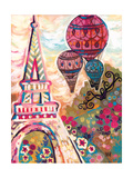 Ballons Sur Paris Poster by Natasha Wescoat