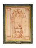 A Study for the Funerary Monument of the Cardinal de Fleury Giclee Print by Bouchardon Edme