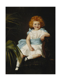 A Young Girl with a Blue Sash Giclee Print by Sybil M.		 Dowie