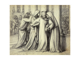 The Virgin Mary being Comforted Premium Giclee Print by Dante Gabriel Rossetti