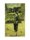 The Black Dress Giclee Print by Edouard		 Vuillard