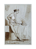 Servant with a Bedwarmer Giclee Print by Fortuny y Marsal Mariano