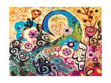 Turquoise Plume Giclee Print by Natasha Wescoat
