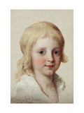 Portrait study of Francesco, Crown Prince of Naples, as a boy, head and shoulders Art by Angelica		 Kauffmann