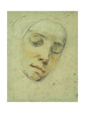 Portrait of Pasitea Crogi, her Eyes Closed in Ecstacy Giclee Print by Francesco		 Vanni