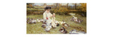 Feeding Ducks Premium Giclee Print by Edward Killingworth		 Johnson