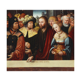 Christ and the Adultress Giclee Print by Johann		 Kemmer