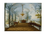 Painted Salon in the Palace of Schonbrunn Called Marian's Drawing Room, Schonbrunn Giclee Print by Franz Xavier		 Nachtmann