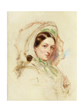 Study of Miss Mortimer holding a Parasol Giclee Print by William Powell		 Frith