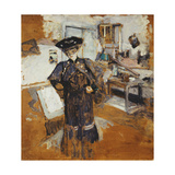 Lady in a Veil, with Hands on Hips Giclee Print by Edouard		 Vuillard