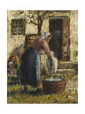 The Washerwoman Giclee Print by Camille Pissarro