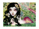 Plumeria Giclee Print by Natasha Wescoat