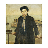 Boy by the Harbour Giclee Print by Harold		 Harvey