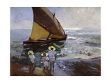 On the Beach, Valencia Giclee Print by Joaquín Sorolla y Bastida