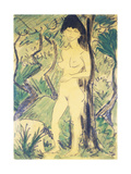 Nude in the Forest Giclee Print by Otto		 Mueller