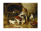 Playmates Giclee Print by Walter		 Hunt