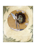 A Putto with a Mask (ceiling decoration) Giclee Print by Jean Leon		 Gerome