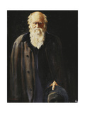 Portrait of Charles Darwin, standing three quarter length Premium Giclee Print by John		 Collier