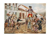 A Carnival Scene (with Medicine lampooned) in Bogota, Colombia. Prints by Francois Desire		 Roulin
