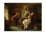 The Tired Seamstress Giclee Print by Midwood William Henry