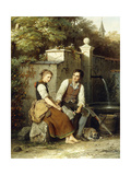 At the Well Giclee Print by Johann Georg		 Meyer von Bremen