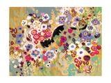 Black Cat Garden Reproduction procédé giclée par Natasha Wescoat
