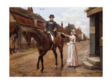 Collecting the Post Premium Giclee Print by George Goodwin		 Kilburne
