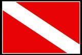 Scuba Diver Down Flag Plastic Sign Znaki plastikowe