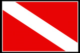 Scuba Diver Down Flag Plastic Sign Plastic Sign