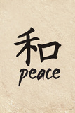 Chinese Writing (Peace) Plastic Sign Wall Sign