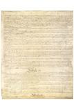 U.S. Constitution Page 3 Plastic Sign - Plastik Tabelalar
