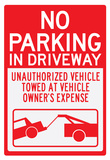 No Parking In Driveway Sign Poster Posters