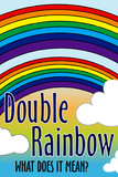 Double Rainbow What Does It Mean Plastic Sign Plastic Sign